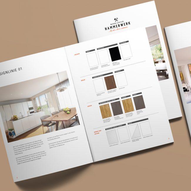 Hammerwerk-Immobilien-Portfolio-Designlinienbroschuere