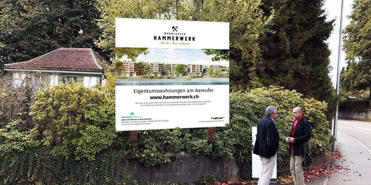 Hammerwerk-Immobilien-Portfolio-Vermarktungstafel