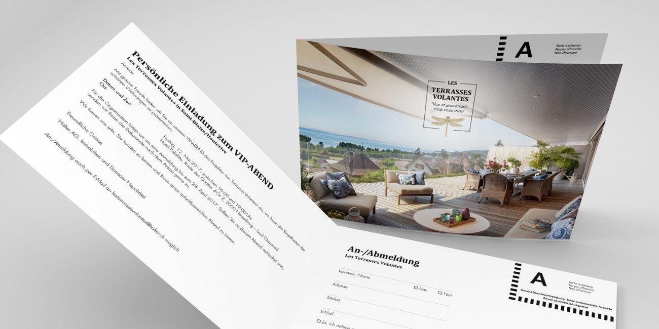 Les Terrasses Volantes Einladungskarte