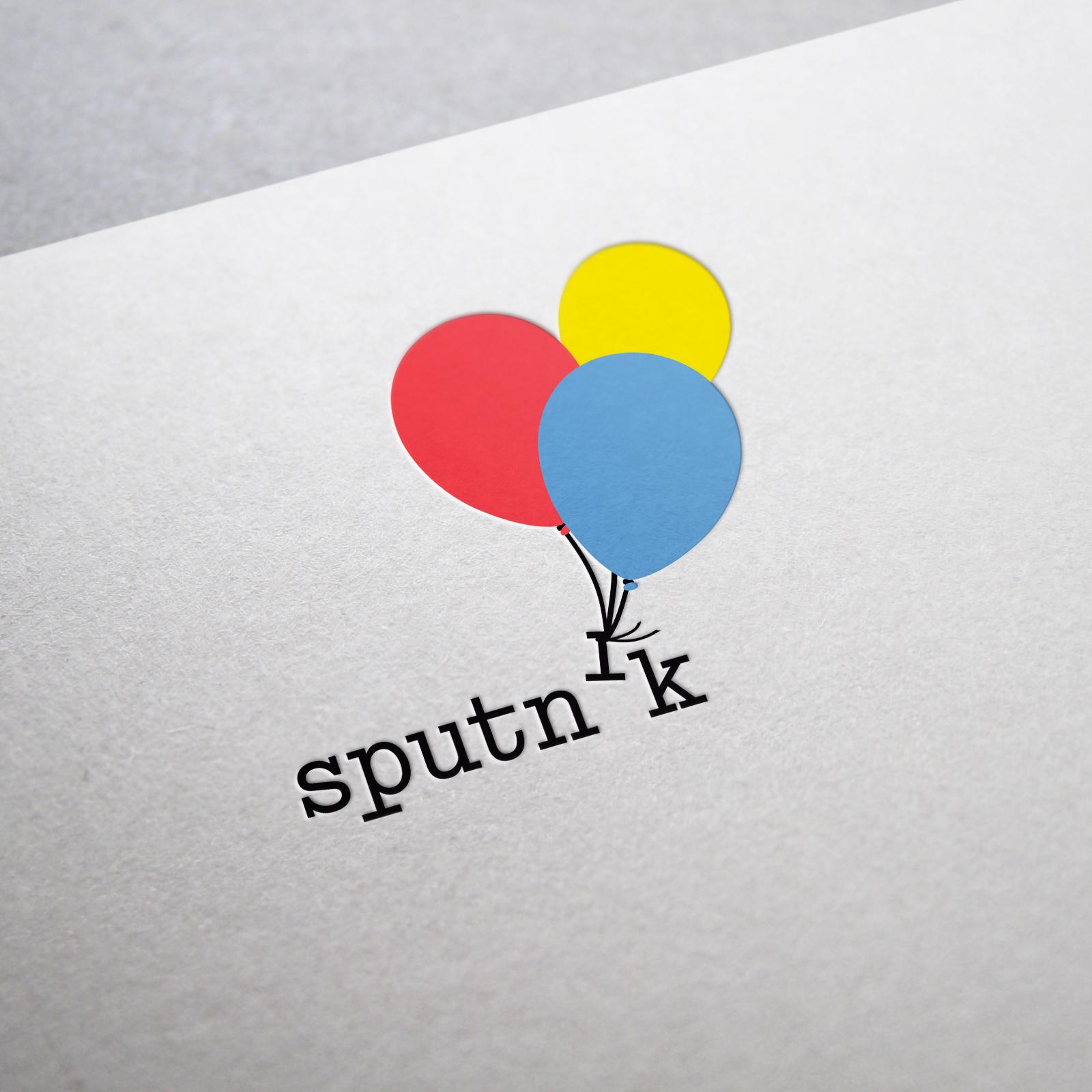 Branding Logo Name Sputnik