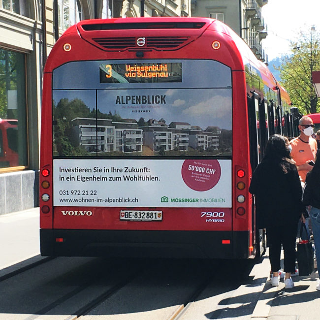 Alpenblick ÖV Werbung
