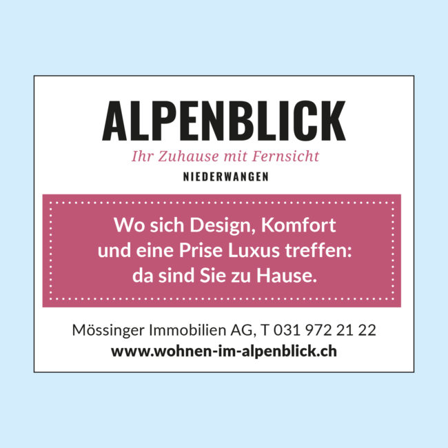 Alpenblick Inserat