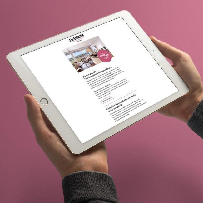 Alpenblick Webseite