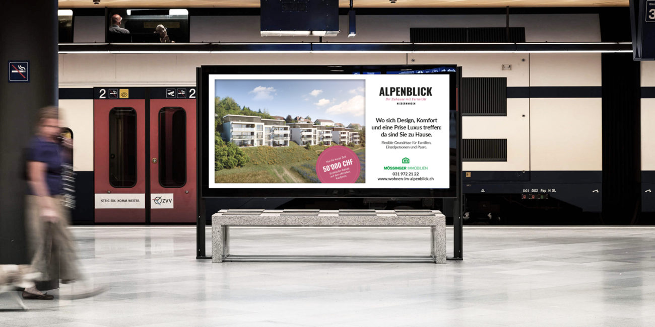 Alpenblick Plakatwerbung